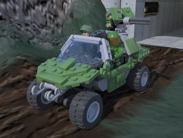 Lego Warthog with Crew by KayKove