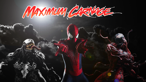 Spider-Man and Venom Maximum Carnage Poster #1 by ProfessorAdagio