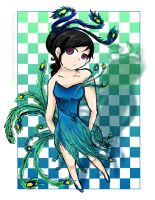 Peacock Dress Attempt by Chocoreaper