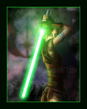 Unnamed Jedi Girl :2: by Lord-FSan