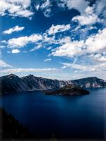 Crater Lake II by Deoradhain
