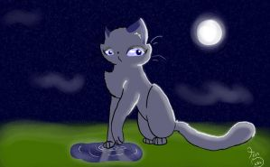 Bluestar Under Moon by TeenBeat