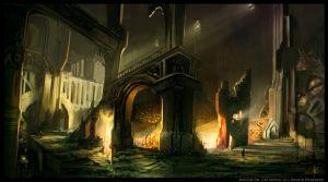Smaug in his Hall by Koshime