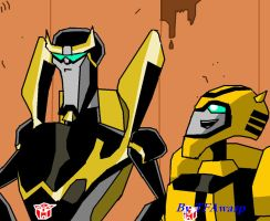Bumblebee and Prowl 2 by Clindra