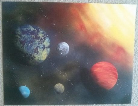 sprayart solar system by EternityArtist