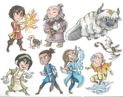 ATLA Stickers by sharkie19