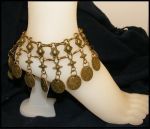 Antiqued Brass Coin Anklet by BacktoEarthCreations