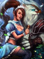 Commission - Nidalee and Rengar (LOL) by AyyaSAP