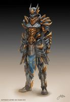 Concept art: Dragon Slayer (Paladin) Full Armor by JophielS