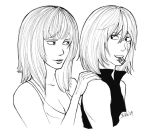 Halle and Mello - Lineart by Nike-93