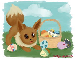 Easter Eevee by Sandy--Apples