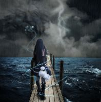 into the storm..into the sea by TL-Designz