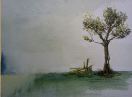 Watercolor - Small tree by Zeon1309