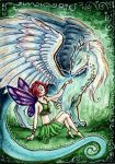 Fae and Dragons series, ACEO 1 by starwoodarts