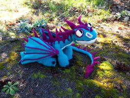 Terrible Terror crochet dragon by silvergirl919