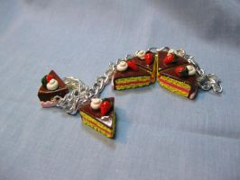 Strawberries and Cream Yellow Cake Bracelet by okapirose
