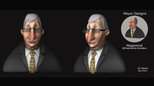 Daily 3D Sketch - Mayor Design from Megaming by Continum