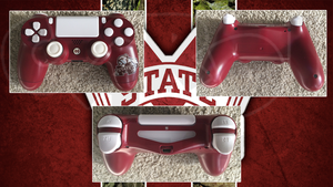 Custom PS4 Controller Mississippi State College by CARDI-ology