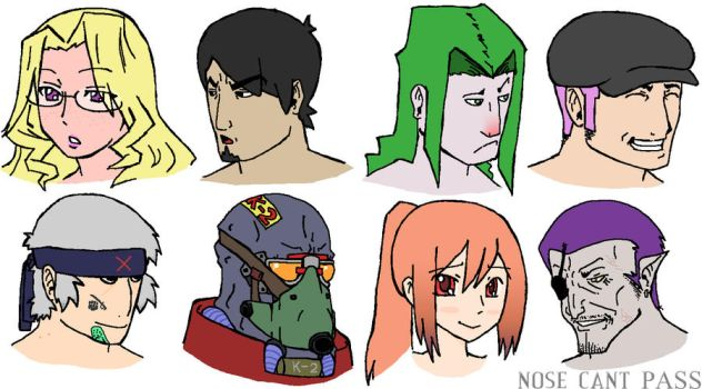 Orawa gym leaders by NoseCantPass