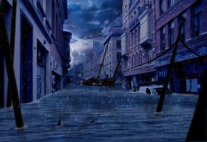 Flooded City Streets by Edward-James-K