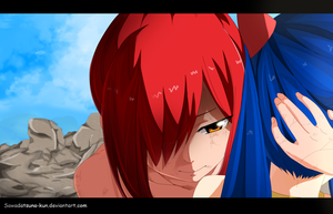 Erza y Wendy | Fairy Tail manga 520 by Sawadatsuna-kun