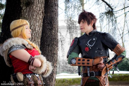Hiccup and Astrid -3- by NekoHibaPC