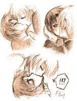 AyaTei - kissing practice by fireychronicles