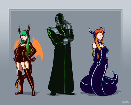 NU and the Cyber Dragon Girls by Blazbaros