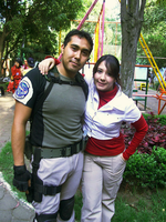 Cosplay: Claire and Chris Redfield by Aletheiia90