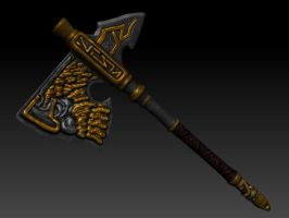 Dragon Age Dwarven Axe by uber-zombie