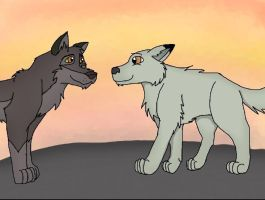 Ember meets balto trade pic #1 by Ember-Flame007