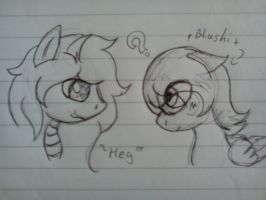.:[SKETCH]SHYGUY AND MIDY:. by Maniactheleader