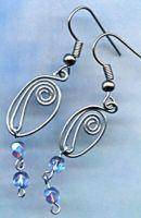 Wire work earrings by Craftcove