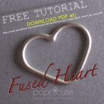 Tutorial Fused Silver Heart by popnicute
