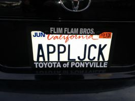 Applejack License Plate by Closer-To-The-Sun