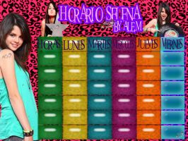 HORARIO SELENA BY ALE,M by DDLoveEditions