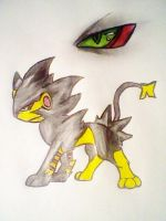Luxray, Shiny Concept by AZURA-FANG