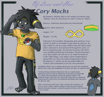 OLAH Character: Cory Mochs by MythTrainerInfinity