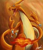 Mega Charizard Y: Fire Spin by MoodySmeargle