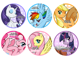 [MLP] My Little Pony Button by yoonny92
