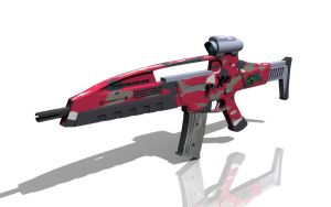 XM8 Red Camo by AlphaMike1