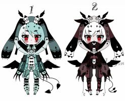 Monster bunny Batch adoptable Closed by AS-Adoptables