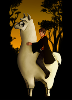 Llama Potter by KeepsakeDesigns