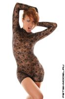Lace Mini CatSuit 4 by agnadeviphotographer
