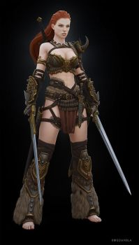 Barbarian Female by Bogdanbl4