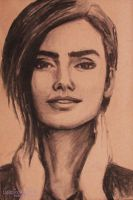 Lilly Collins by cardiasketch
