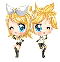 +Rin and Len+ by Amai--Kiss