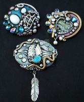 Polymer clay Jewelry 1 by MandarinMoon