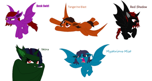 OCs as Bat Ponies (Possible RP) by wezzie1