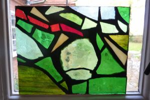 Apple Stain Glass Window by Mechgeek